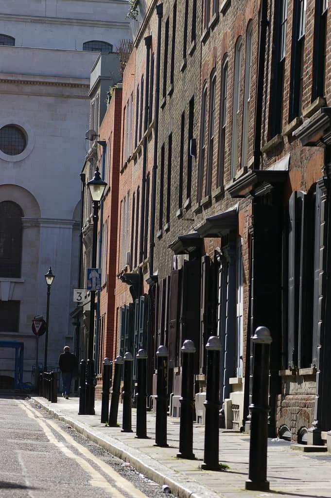 East end of London street scene