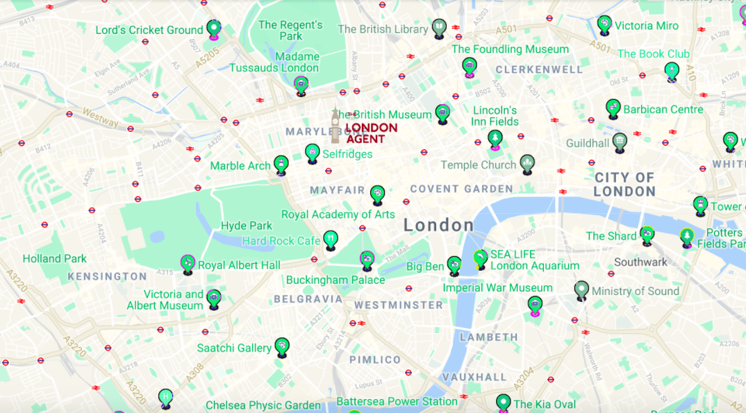 Areas Of Central London Map.Free London Maps Are Useful When You Visit London