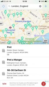 Handy apps on your London vacation