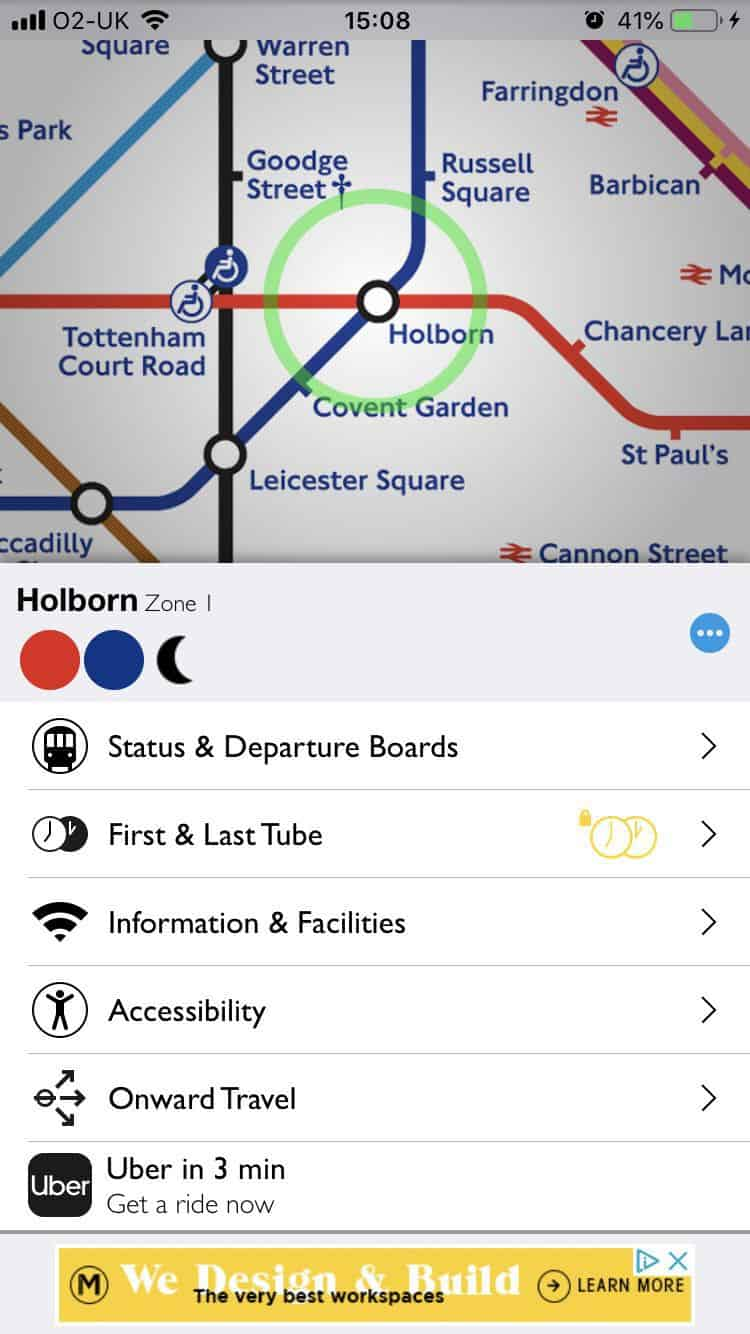 Access apps for your London vacation.